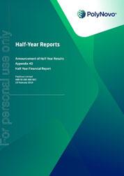 PolyNovo Half-year report 15 February 2018