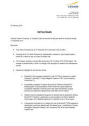 Half Year Financial Report December 2013